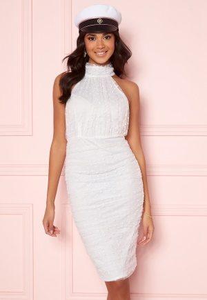 AX Paris Polka Dot Mesh Dress White S (UK10)