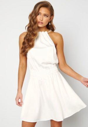 BUBBLEROOM Anya High Neck Dress White 40