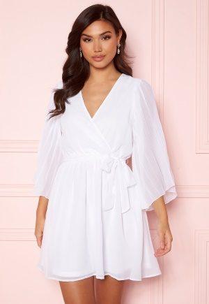 BUBBLEROOM Fayme pleated sleeve dress White 36