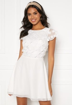 BUBBLEROOM Fioli flower dress White 42