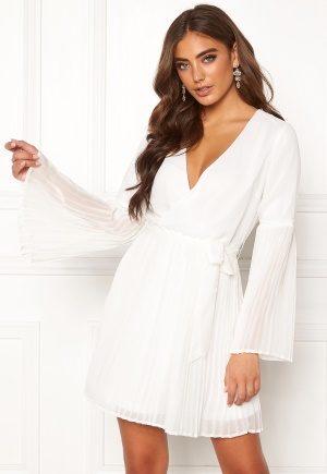 BUBBLEROOM Paulinn pleated dress White 38