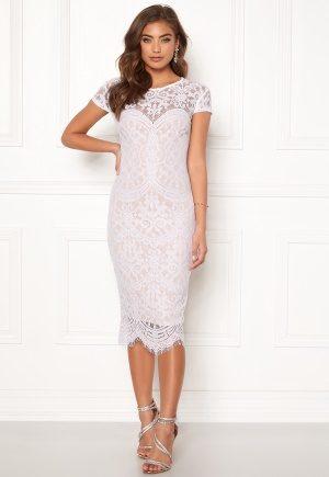 Goddiva Lisa lace dress White / Beige 34