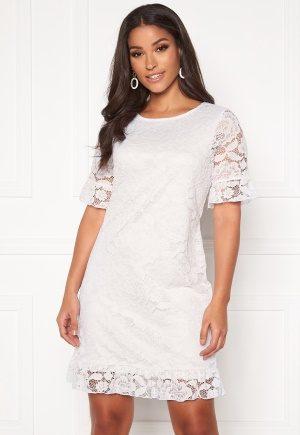 Happy Holly Julianne flounce lace dress White 44/46