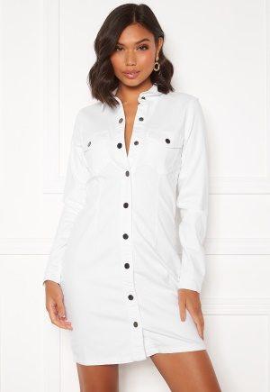 Jacqueline de Yong Sanna Denim Dress White XS
