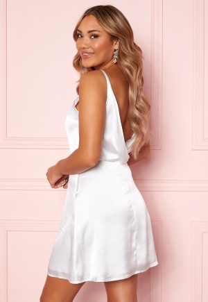 Moments New York Laylani Satin Dress White 42