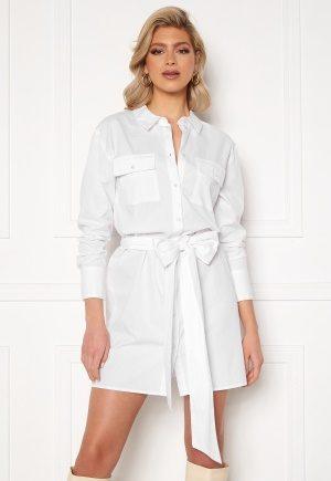 Sara Sieppi x Bubbleroom Belted Shirt Dress White XL