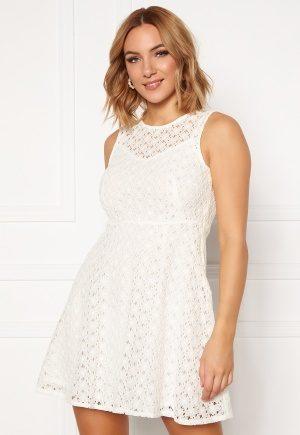 VERO MODA Allie Lace S/L Short Dress Snow White M